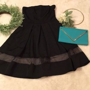 Express Black Strapless Dress NWOT